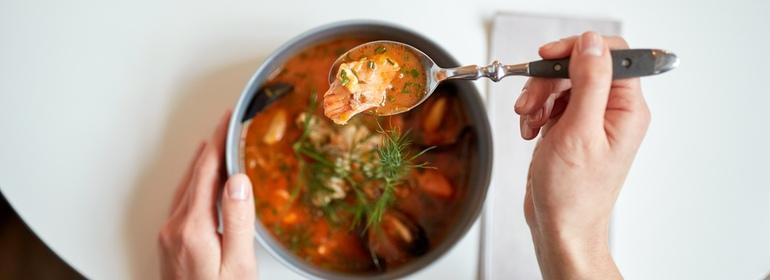 Soup's on ain't a soupçon!